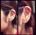 Triple ear lobe and cartilage by Grace