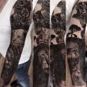 Father and daughter themed sleeve by Brigitta