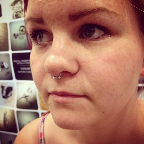 Septum piercing by Grace